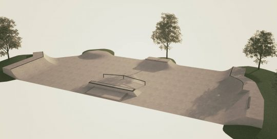Skate park Zabok nacrt